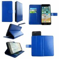 Premium Leather Mobile Phone Blue Wallet Book Case For BLU Tank Xtreme 2.4 -S