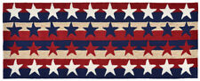 "AREA RUGS - PATRIOTIC STARS AND STRIPES INDOOR OUTDOOR RUG - 24""' x 60"" RUNNER"