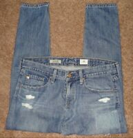 AG Adriano Goldschmied The Nikki Crop Relaxed Skinny Distressed Women's Size 29