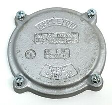 Appleton Electric CPSK20B Explosion Proof Form 20 CPU Box Blank Cover