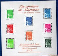 France Bloc N°45 Les Couleurs de Marianne en Euros 2002 Neuf Luxe