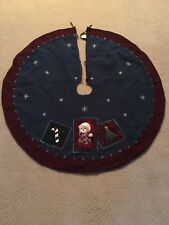"""Reversible Prima Creations 43"""" Christmas Tree Skirt Teddy Bear Candy Cane"""