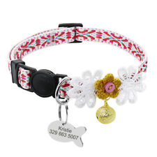 Nylon Personalised Cat Collar Quick Release Safety Kitten Collar & Free Bell