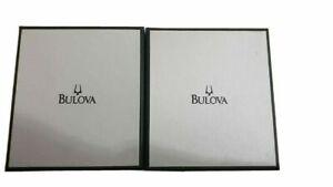 Bulova Accutron Watch Presentation Box & Outer Box New Full Set