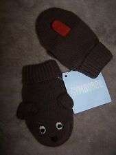 NWT GYMBOREE BROWN Puppy Dog MITTENS 0-12 MO Free US Shipping