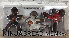 FRED Ninjabread Men Cookie Cutters Gingerbread - Set of 3 - New In Package Ninja