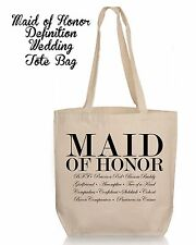 Personalized Wedding Gift Tote- Bridesmaid Matron Maid of Honor Wedding