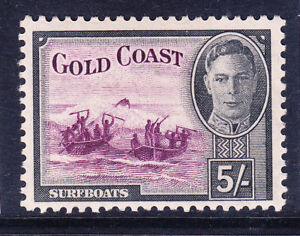 GOLD COAST George VI 1948 SG145 5/- purple & black - unmounted mint. Cat £45