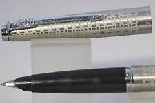 1981 Parker 45 Harlequin Circlet Medium Fountain Pen with Chrome Plated Trim