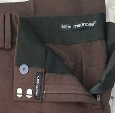 Maurices Plus Size Pants IT Fit Dress Pants Brown 24 Regular