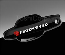 4 MAZDASPEED Stickers Decals MAZDA 3 6 Door handle Wheels Mirror WHITE