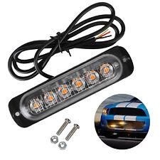 2X12/24V AMBER RECOVERY CAR STROBE 6LED LIGHTS ORANGE GRILL  Puncture