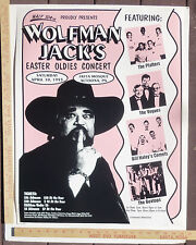 Wolfman Jack Platters Vogues Haley's Comets Concert Poster Pennsylvannia 1993