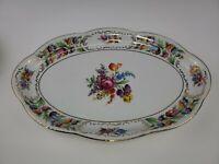"""Schumann Empress Dresden Flowers Oval Platter 16 1/8"""""""