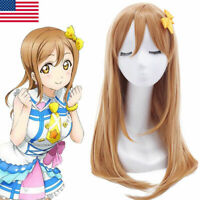 LoveLive Sunshine Aqours Kunikida Hanamaru Yellow Cosplay Wigs Long Straight Wig