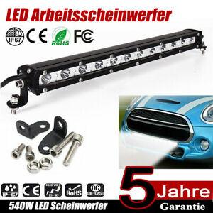 540W LED Arbeitsscheinwerfer Auto Offroad SUV Light bar Lichtbalken 12V 24V DE