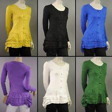 Figurbetonte Damenblusen, - tops & -shirts mit U-Ausschnitt aus Baumwolle