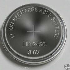 1 LIR2450  Lithium-Knopfzellenakku LIR2450 120 mAh 3.6 V 24 mm x 5mm LIR 2450 !