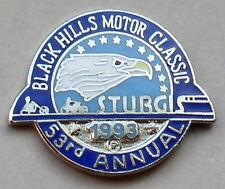 """VERY RARE"" STURGIS CHAMBER SOUTH DAKOTA 53rd ANNUAL 1993 RALLY VEST PIN"