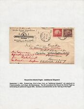 #567 & #571 ON ZEPPELIN FLIGHT ROUND THE WORLD COVER NEW YORK TO GERMANY BQ6732