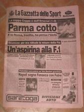 GAZZETTA DELLO SPORT ARSENAL PARMA FINALE COPPA 1994