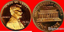 1972 S Lincoln Cent Gem Proof No Reserve
