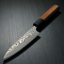 Japanese Yoshimi Kato SG2 Damascus Black Finish Petty Utility Knife 120mm Japan