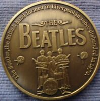 1 OZ LIMITED EDITION COLLECTOR METAL COIN THE BEATLES  4 CM 1960-1970 FAB FOUR