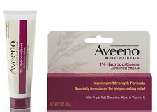 New Aveeno 1% Hydrocortisone Anti-Itch Relief Cream 1 Oz