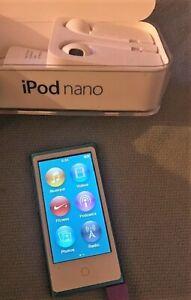 Apple iPod Nano 7ème Génération 16 Go Lecteur Multimédia Portable - bleu.