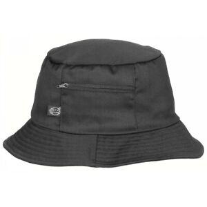 Fischerhut Schlapphut schwarz S-XXL Anglerhut Hut mit Seitentasche Freizeithut