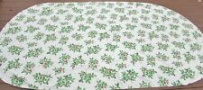 "Vintage Christmas Tablecloth Mid Century HUGE oval 100"" x 58"" HOLLY w/ berries"
