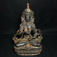 "5"" Chinese old antique Bronze Tibetan Buddhism Vajrasattva Buddha statue"
