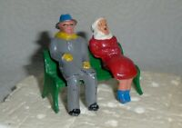 "Vintage Lead Barclay ""Man And Woman On Bench, Winter Coats"" B179 Near Mint F/S B"