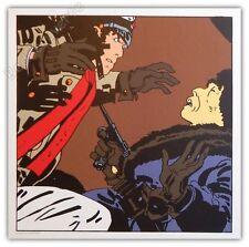Affiche Sérigraphie Hugo Pratt Corto Maltese Combat 50x50 cm