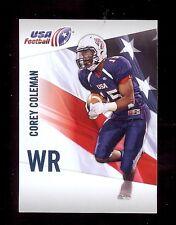 50) COREY COLEMAN Cleveland Browns / Baylor 2012 USA Football RC Rookie Card LOT