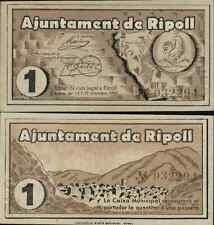 1 Peseta. Ayuntamiento de Ripoll. Gerona. 3ª Emisión Octubre 1937. Nº 032294.