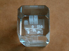 911 WORLD TRADE CENTER TOWERS NEW YORK LASER CRYSTAL FIRE FIGHTERS PAPER WEIGHT