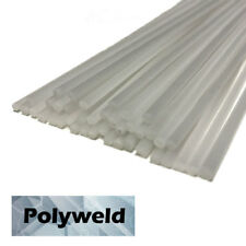 Polypropylene PP Plastic Welding Repair Rods-40ft, 40pk-12in x 3mm Natural-White