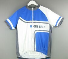 GEBERIT WHITE BLUE SHORT SLEEVE CYCLE JERSEY TOP szXLARGE