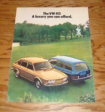Original 1974 Volkswagen VW 412 Sales Brochure 74 Sedan Wagon
