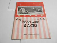 #MISC-2486 CAR RACING PROGRAM - 1974 SUN PRAIRE WI MIDGET RACES