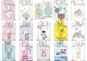 Kinderbettwäsche Babybettwäsche  100x135 + 60x40 Barbie Blaze Peppa Pig Tweety