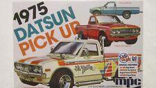 MPC 1975 DATSUN PICK UP 1/25 SCALE