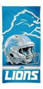 """DETROIT LIONS SPECTRA BEACH TOWEL 30""""X60"""" COTTON PLUSH NFL LICENSED"""