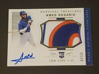 2018 National Treasures Amed Rosario RPA /25 Autograph Rookie Sick Patch Auto