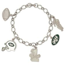 New York Jets Wincraft NFL Bracelet With 5 Charms FREE SHIP