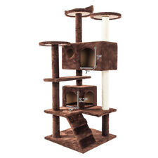 """New listing 52"""" Cat Tree Tower Scratching Scratch Solid Sisal Rope Plush Tower Condo House"""