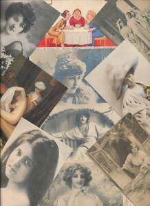 100 AK Frauen / Women in erotischen Posen hübsche Mädchen vor 1945