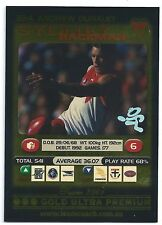 2001 Teamcoach Gold Ultra Premium Prize Card (224) Andrew DUNKLEY Sydney
